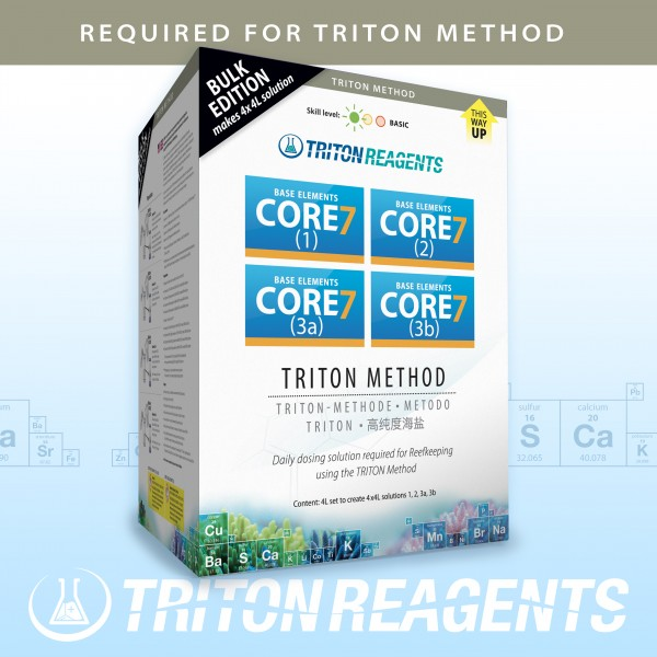 Triton SET Core7 Reef Supplements Bulk Edition 4x 4Liter Kit für Triton-Methode