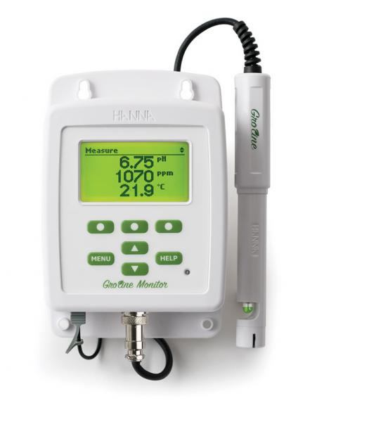 Hanna GroLine pH- und Leitfähigkeitsmonitor für die Hydroponik HI981420-02