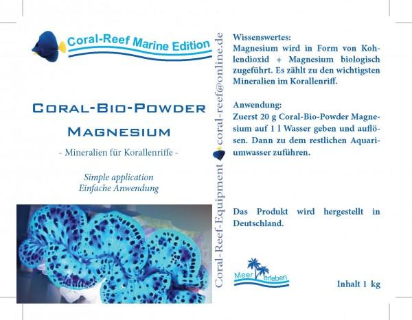 Coral BIO Powder Magnesium - 1 kg Dose