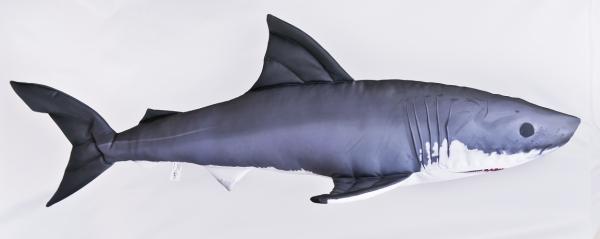 Weisser Hai - Mini Kissen ca. 53cm