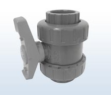FIP PVC-Kugelhahn mit 2 Anschlussenden, 63 mm