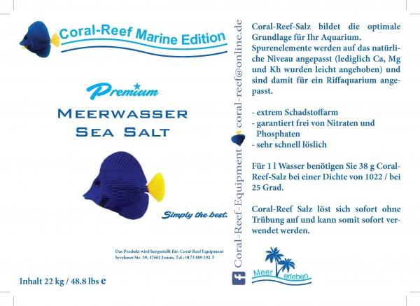 Coral Reef Premium Meersalz - 22 kg / Eimer