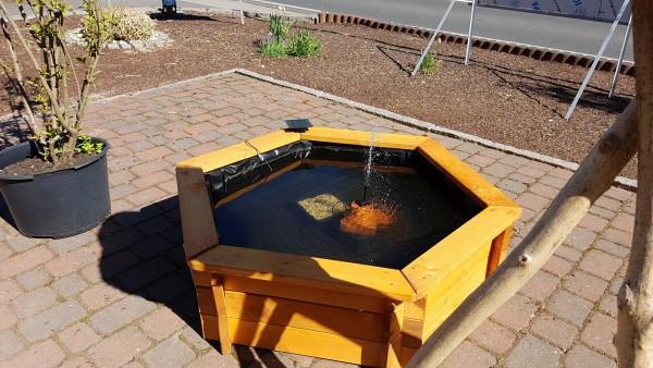 Gartenteich Selbstbausatz 120 cm inklusive Solarpumpe