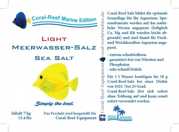 Coral Reef light Meersalz (weniger Ca und Mg) - 7 kg / Eimer