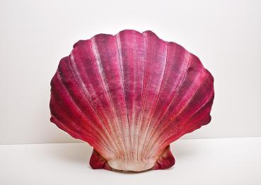 Große Pilgermuschel - Kissen rot ca. 45 cm