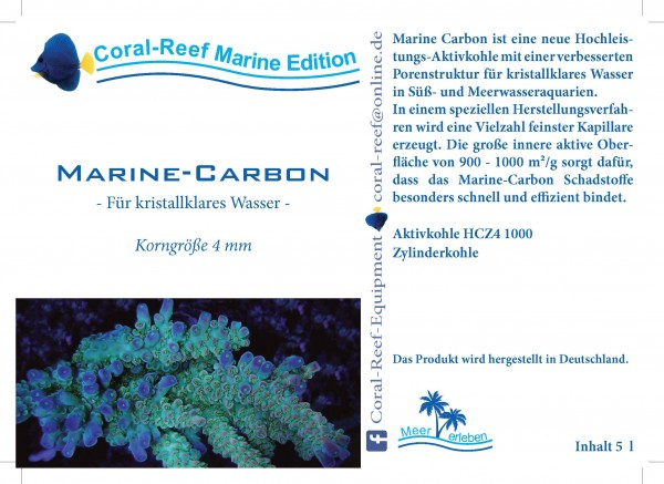 Marinecarbon (Aktivkohle) - 5000 ml Eimer