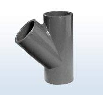 T-Stück 45° dreifache Klebemuffe, 63 mm = Y-Stück
