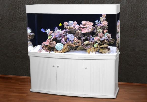 Rechteck 150cm Glasaquarium Aquarienkombination weiß