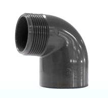 Winkel 90° Klebemuffe + Außengewinde 40 x 1 1/4 Zoll
