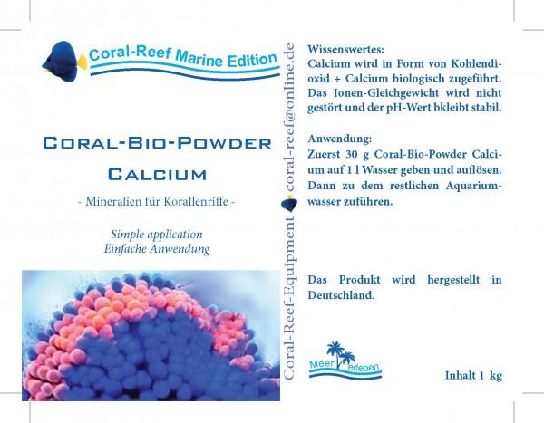 Coral BIO Powder Calcium - 1 kg Dose