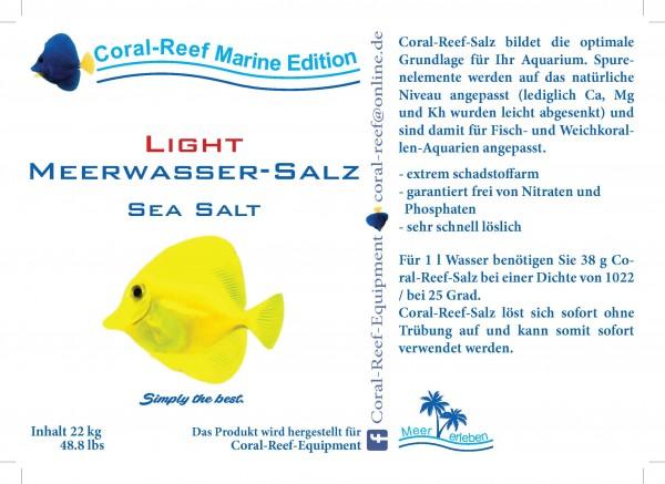 Coral Reef light Meersalz (weniger Ca und Mg) (klarsicht, verschw.) - 22 kg / Beutel