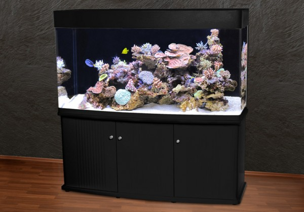Rechteck 150cm Glasaquarium Aquarienkombination schwarz