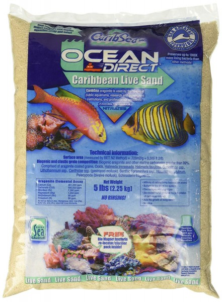 Live Sand CaribSea Ocean Direct Oolite Hell fein 2,27 kg