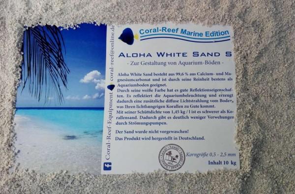 0,5 - 2,5 mm Aloha White Sand S Meeresgrund / Korallensand 10kg