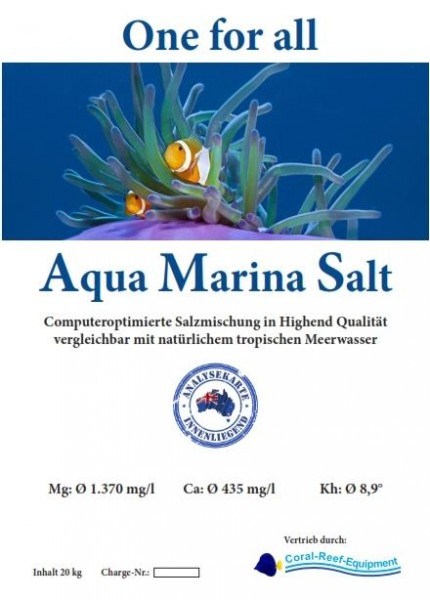 Aqua Marina Salt - computeroptimierte Meersalzmischung - 20 kg / Eimer
